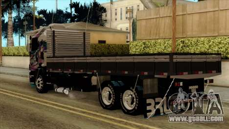 Scania 124G R400 Hatsune Miku Livery for GTA San Andreas left view