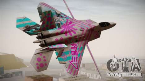 F-22 Raptor Hatsune Miku for GTA San Andreas left view