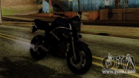 Kawasaki ER-6N 2010 for GTA San Andreas back view