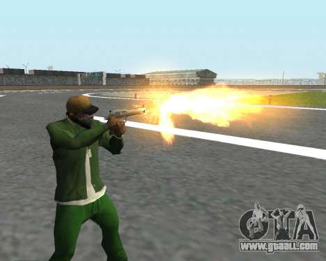 Beautiful shots from weapons for GTA San Andreas forth screenshot