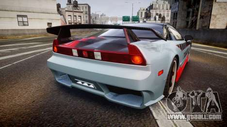 Honda NSX 1998 [EPM] takata for GTA 4 back left view