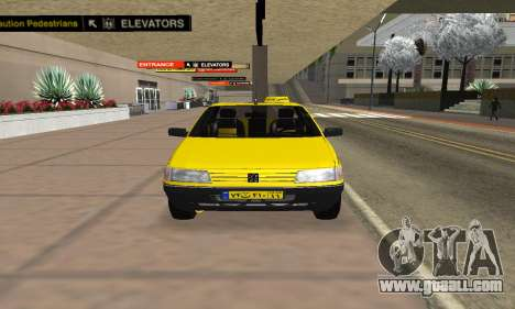Peugeot 405 Roa Taxi for GTA San Andreas right view