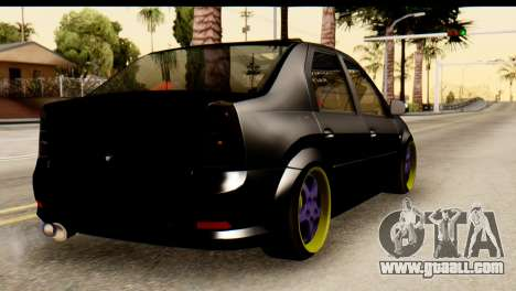 Dacia Logan for GTA San Andreas left view