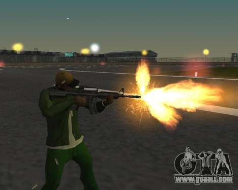 Beautiful shots from weapons for GTA San Andreas sixth screenshot