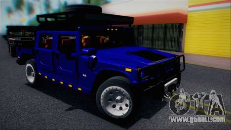 Hummer H1 Alpha OpenTop 2006 Stock for GTA San Andreas upper view