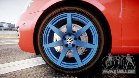 Volkswagen Golf Mk6 GTI rims3 for GTA 4 back view