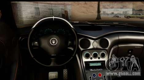 Maserati Gransport 2006 for GTA San Andreas inner view