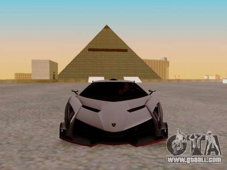 Lamborghini Veneno for GTA San Andreas left view