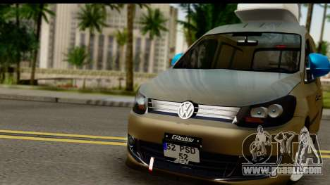 Volkswagen Caddy for GTA San Andreas back left view