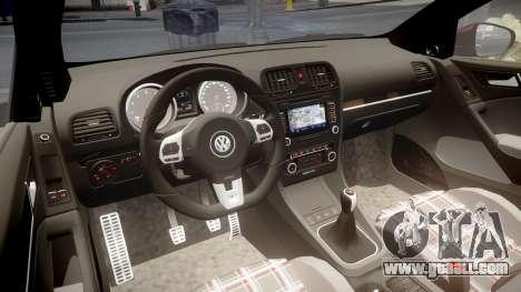 Volkswagen Golf Mk6 GTI rims3 for GTA 4 inner view