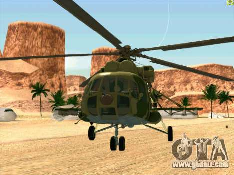 Mi-8 for GTA San Andreas left view