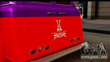 EFLC TLaD Vapid Slamvan SA Mobile for GTA San Andreas back left view