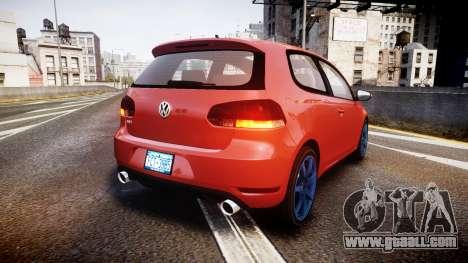 Volkswagen Golf Mk6 GTI rims3 for GTA 4 back left view