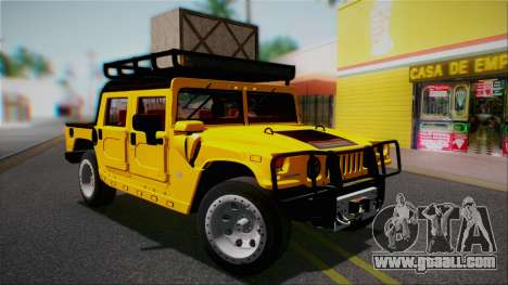 Hummer H1 Alpha OpenTop 2006 Stock for GTA San Andreas bottom view