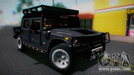 Hummer H1 Alpha OpenTop 2006 Stock for GTA San Andreas side view