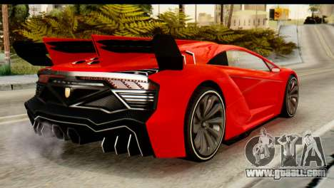 GTA 5 Pegassi Zentorno v2 IVF for GTA San Andreas left view