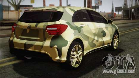 Mercedes-Benz A45 AMG Camo Edition for GTA San Andreas left view