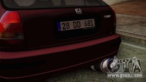 Honda Civic 1.4i S TMC for GTA San Andreas right view