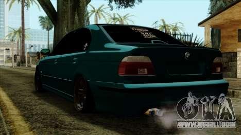 BMW 540 E39 Accuair for GTA San Andreas left view