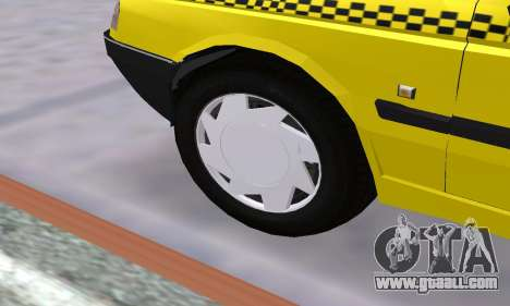 Peugeot 405 Roa Taxi for GTA San Andreas bottom view