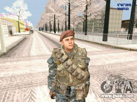 The special forces of the USSR CoD Black Ops for GTA San Andreas