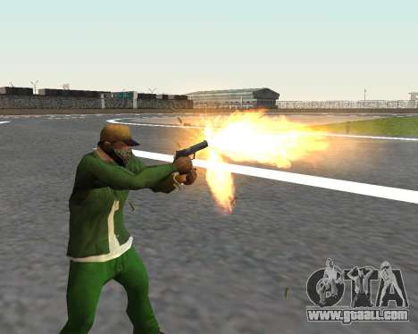 Beautiful shots from weapons for GTA San Andreas eighth screenshot