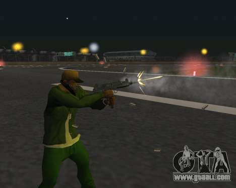 Beautiful shots from weapons for GTA San Andreas