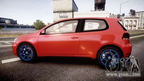 Volkswagen Golf Mk6 GTI rims3 for GTA 4 left view