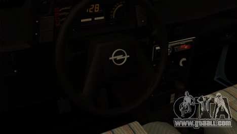 Opel Kadett Stock for GTA San Andreas back left view
