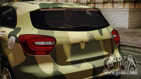 Mercedes-Benz A45 AMG Camo Edition for GTA San Andreas back view