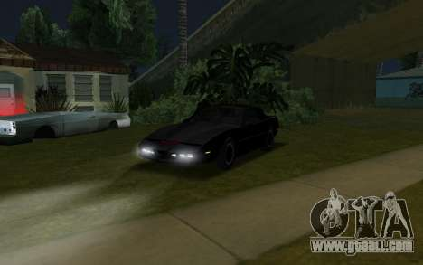 K.i.T.T. 2000 for GTA San Andreas back left view