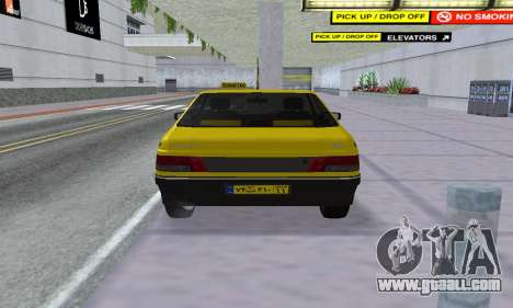 Peugeot 405 Roa Taxi for GTA San Andreas back view