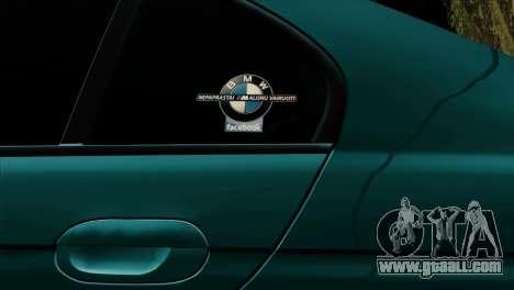 BMW 540 E39 Accuair for GTA San Andreas inner view