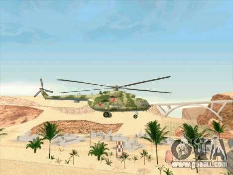 Mi-8 for GTA San Andreas back view