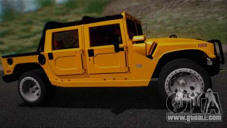 Hummer H1 Alpha OpenTop 2006 Stock for GTA San Andreas right view