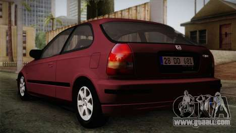 Honda Civic 1.4i S TMC for GTA San Andreas left view
