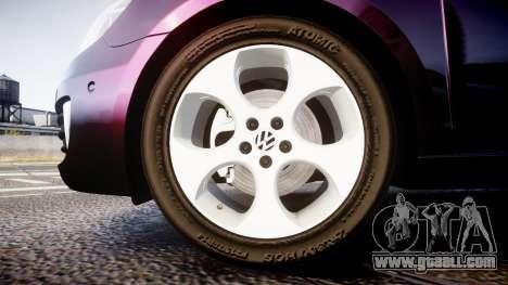 Volkswagen Golf Mk6 GTI rims1 for GTA 4 back view