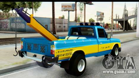 Nissan Junior 1982 Pickup Towtruck for GTA San Andreas left view