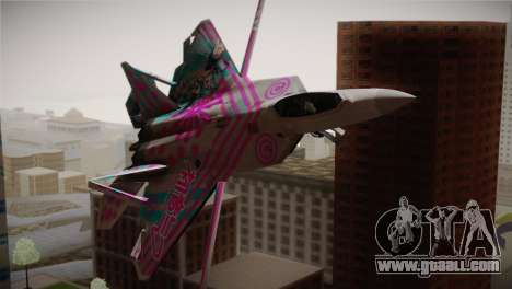F-22 Raptor Hatsune Miku for GTA San Andreas