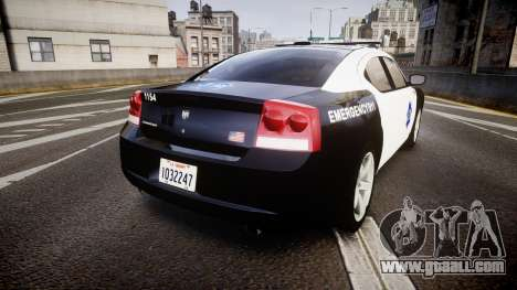 Dodge Charger 2010 LCPD [ELS] for GTA 4 back left view