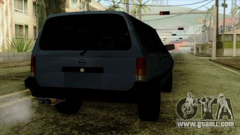 Opel Kadett Stock for GTA San Andreas back view