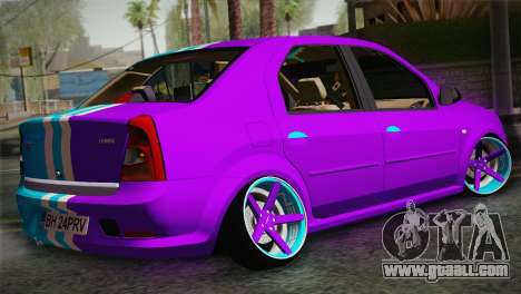 Dacia Logan Purple-Blue for GTA San Andreas left view