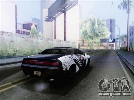 Dodge Challenger SRT8 Hemi Drag Tuning for GTA San Andreas back left view