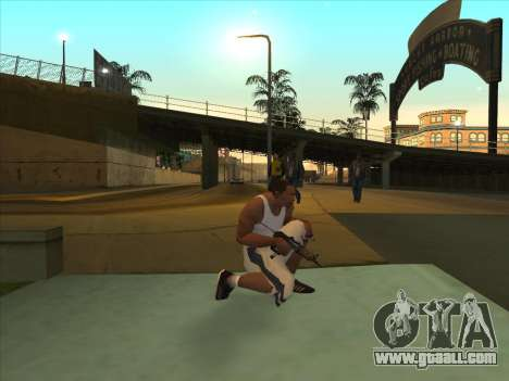 Russian submachine guns for GTA San Andreas second screenshot