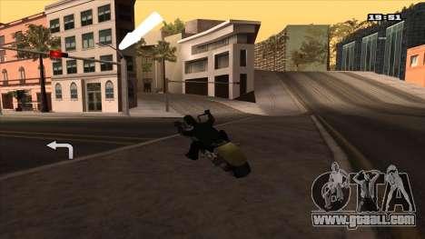 GPS Navigator with Russian voice for GTA San Andreas third screenshot