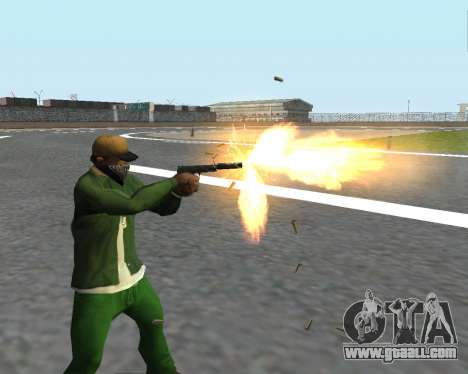Beautiful shots from weapons for GTA San Andreas tenth screenshot