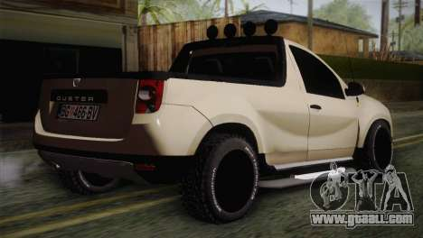 Dacia Duster Pickup 2014 for GTA San Andreas left view