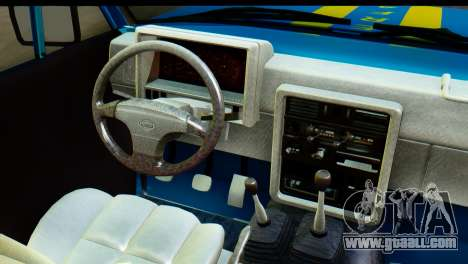 Nissan Junior 1982 Pickup Towtruck for GTA San Andreas inner view