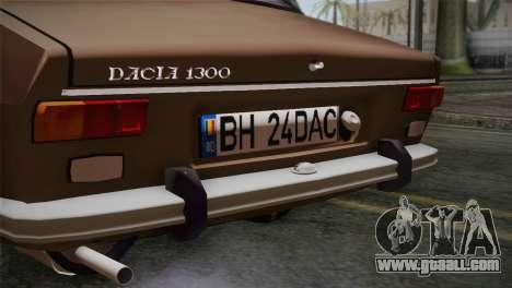Dacia 1300 Biharia for GTA San Andreas back view