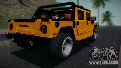 Hummer H1 Alpha OpenTop 2006 Stock for GTA San Andreas left view